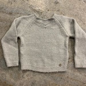 Little Girls Mayoral Silver Sweater Size 5T